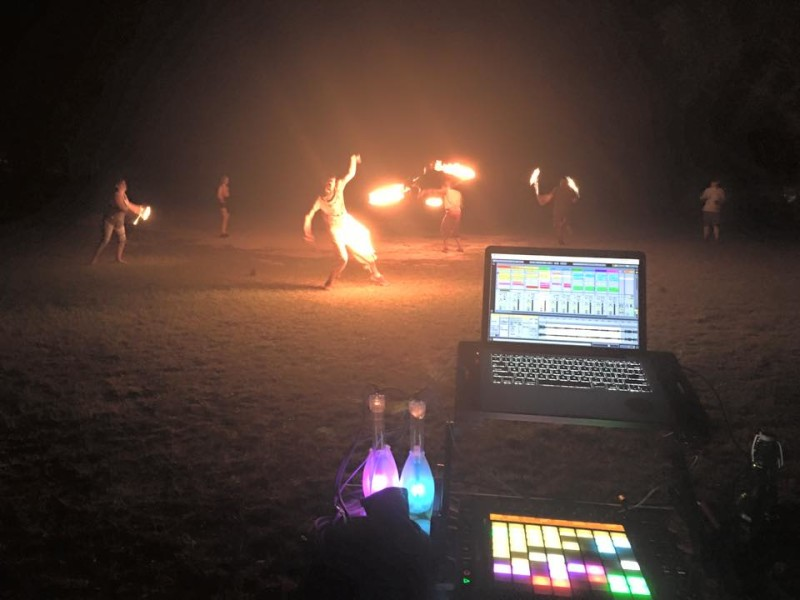 From the MediaShare in eFLOWution Fest - Just an awesome view of a fire circle
