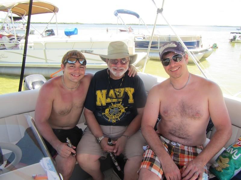 My favorite Italian guys. Joey, Vince Sr., and Vince Jr.