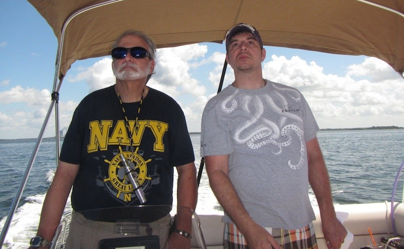 This is what Vince Sr. and Vince Jr. look like when seeking water deeper than 3ft.