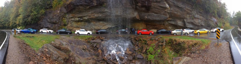 Bridal Falls with our group. I learned my iPad has an awesome panoramic feature.