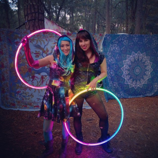 Me and Alicia and our hoops at Hulaween!