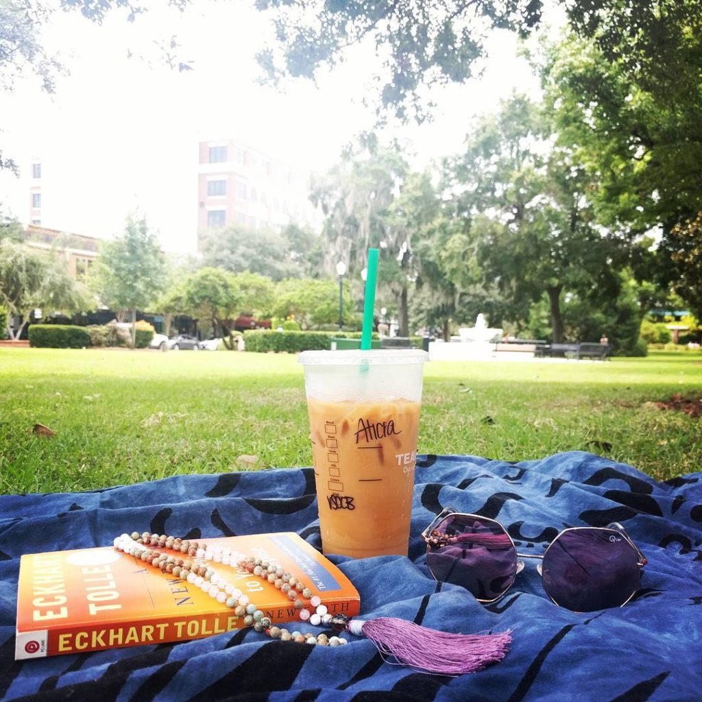 I took my Mala to the park and repeated my mantra in public - surprisingly fun!
